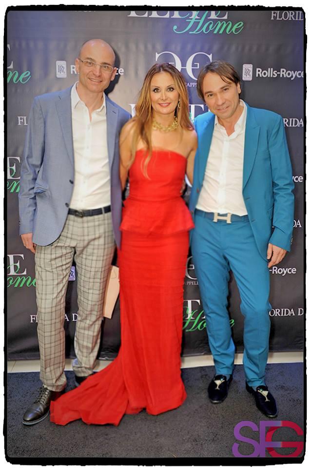 Avec Vladimir Maistrenko et le designer Franco Cappellini au Miami Showroom of Elite Home mai 2015